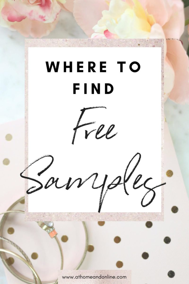 Where To Find Free Samples - At Home & Online