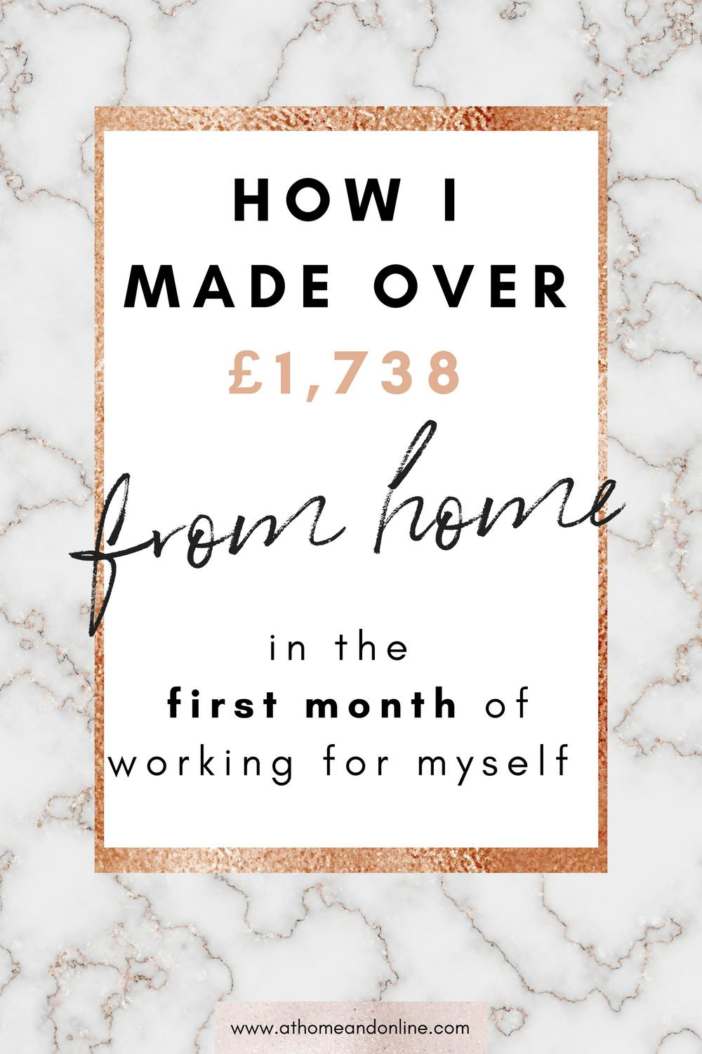 How To Make Money Online: My First Income Report After