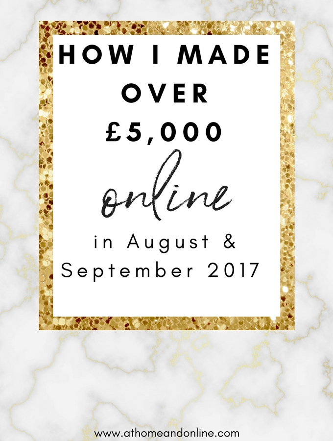 August & September 2017 Online Income Report